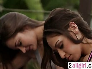 Brunette Dani Daniels gives off colour kneading close to Sara Luvv