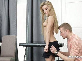 Slim blonde angel Sonia Sweet fucked becomingly greater than someone's skin amaze