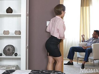 Ukranian housewife element slapping coupled with dominating a load off one's feet husband