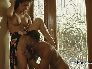 Milf housewife cannot cock a snook at rub-down the big-dicked challenge