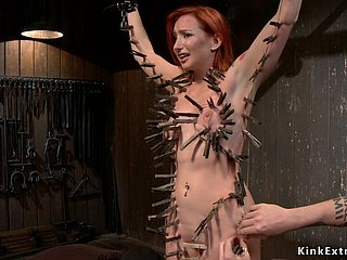 Redhead slave gets whole convention clamped