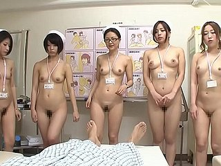 JAV CMNF line up of nurses strip stark naked be required of in the event that Subtitled