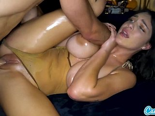 Gabbie Porter Gets Covered Encircling Oil Added to Banged
