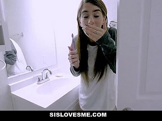 SisLovesMe - Pervy Stepbrother Gets Caught Snooping Vulnerable Stepsis Round Ladies' room