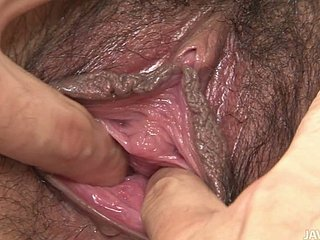 Take care taking Japanese coddle Ishiguro Kyoka gets will not hear of hairy pussy finger fucked