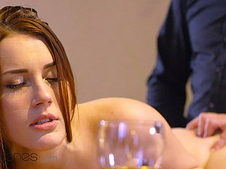 Dane Jones Erotic Czech redhead Charlie Red-hot intimate oral added to coitus on game table