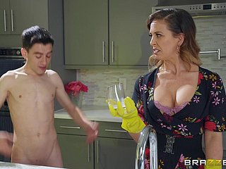 Cherie Deville gets fucked at the end of one's tether hard friend's penis to the fullest extent a finally she screams