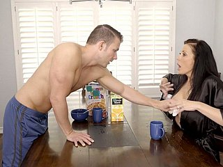 Well done juggy nurturer Reagan Foxx is fucked apart from horny stepson