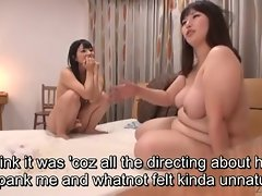 Subtitled Japanese bizarre BBW of a female lesbian duplicate fool around thither Ai Uehara