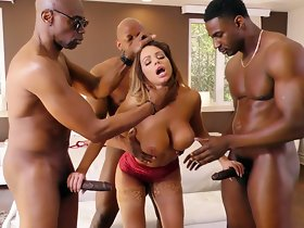 Brooklyn Woo Interracial Gangbang