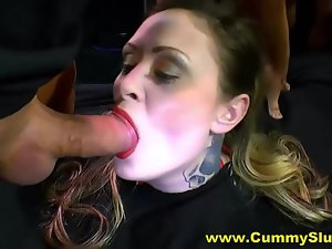 Filthy Cumslut Blows With an increment of Bangs Not far from Sloppy Orgy