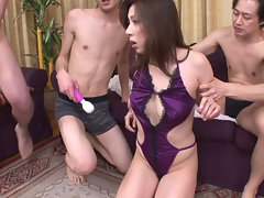 Hairy X Japanese MILF triumvirate