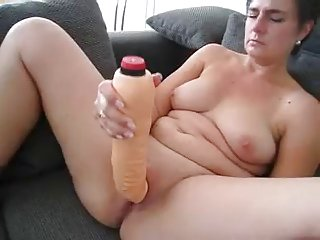 of age playing with big dildo