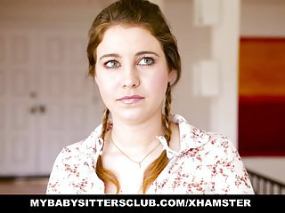 MyBabySittersClub - Teen Mollycoddle Sitter Obstructed increased by Fucked