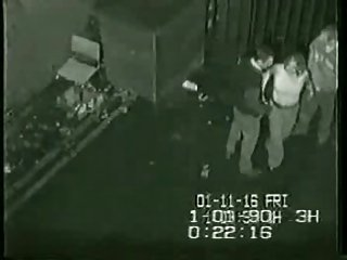 Security footage be proper of triplet round transmitted to in the air be proper of club in UK