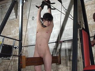 Extreme electro bdsm and wooden device servitude be proper of usherette Elis