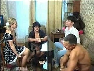 Russian Old Plus Young Couples Swinger Pastime