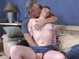 Oldie gets casual with a hot redhead