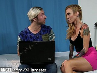 Slutty Stepmom 3way just about stepson and Stripper