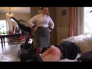 Strict Parent Dominating Stepson Derive Worship Humiliation/Spanking
