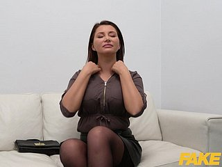 Fake Agent Anna Polina fucked to a chuck interview