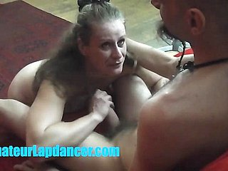 Czech MILF rendering lapdance and blowjob handy the brush prankish shooting